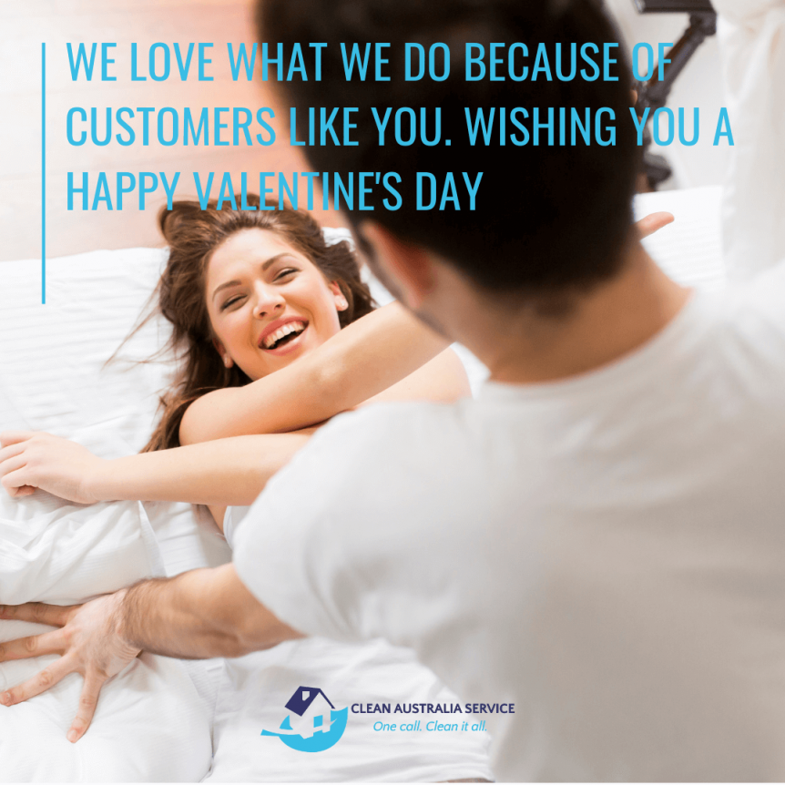 Happy valentine's day from Clean Australia Service