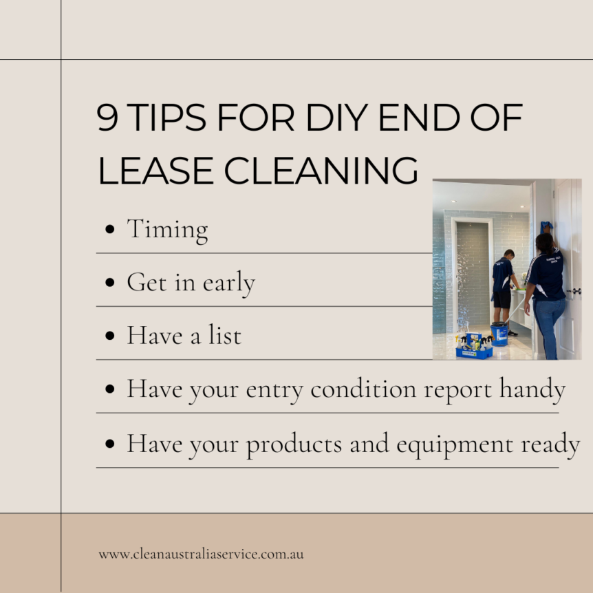 9 tips for DIY end of lease cleaning